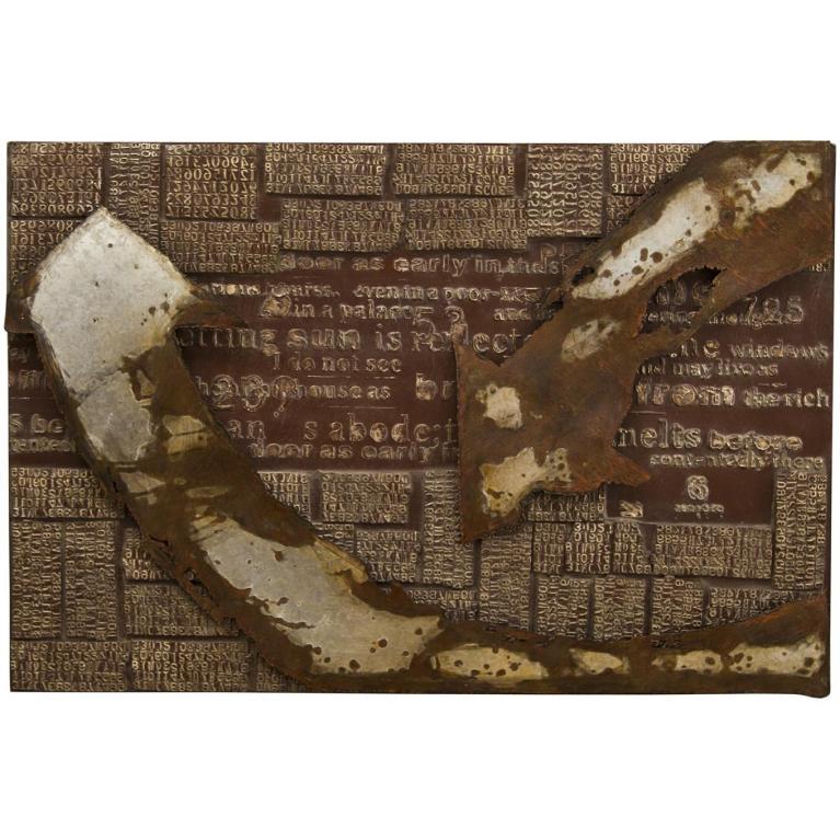 olio su  metallo (120 x 80 cm) stones