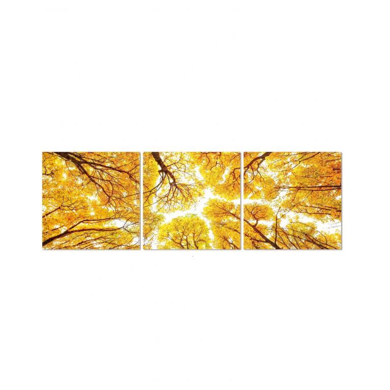 set di 3 stampe su vetro (70 x 210 cm) stones