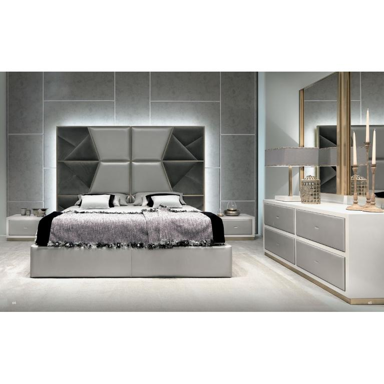 Letto matrimoniale luxury Mondrian, Cortezari king per rete da 165 e 180