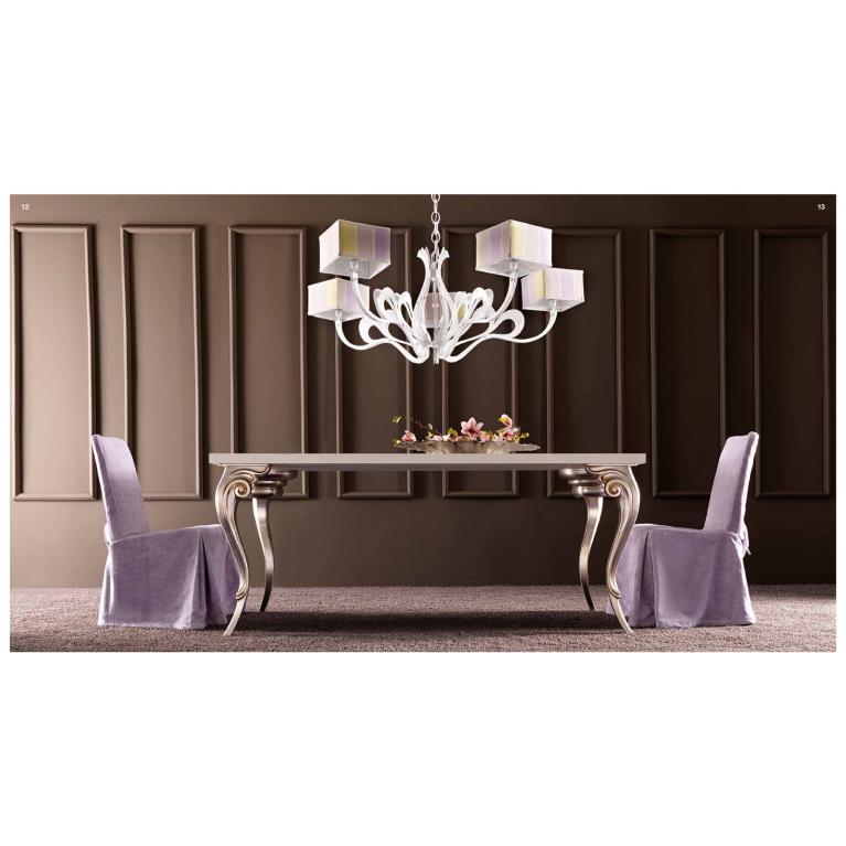 Tavolo pranzo luxury soggiorno elegante,legno, mod. Antares